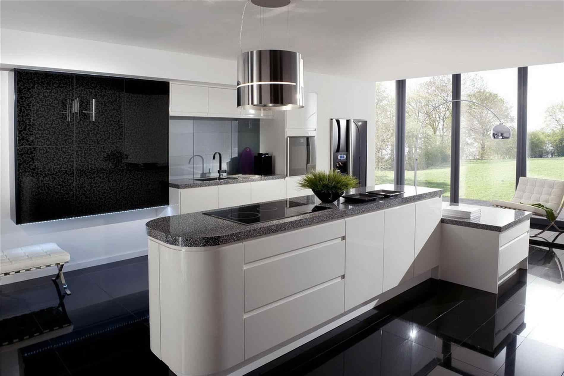 Awesome 13 Black Shiny Kitchen Cabinets Ideas For Stunning Kitchen Breakpr White Modern Kitchen Modern Kitchen Design Minimalist Kitchen Design