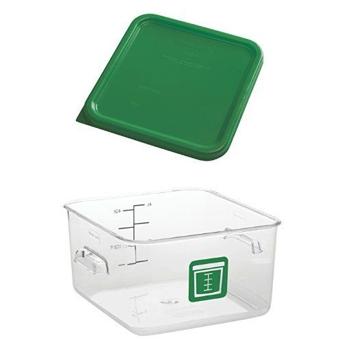 Rubbermaid Commercial Round Plastic Food Storage Container Green 4