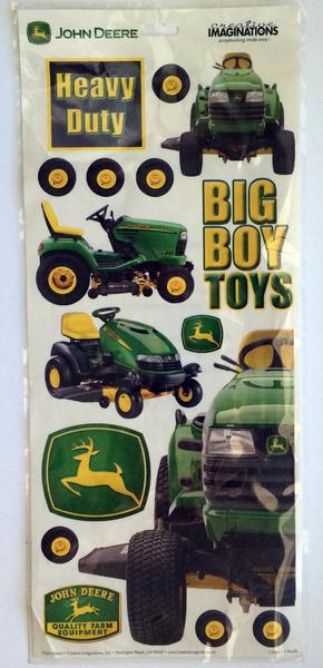 Nip John Deere Tractor Collectible Scrapbook Stickers 16 Pieces Logo
