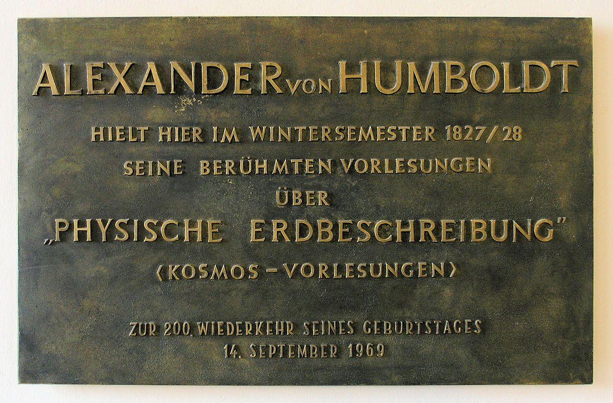 Gedenktafel im Haus Unter den Linden 6 in BerlinMitte