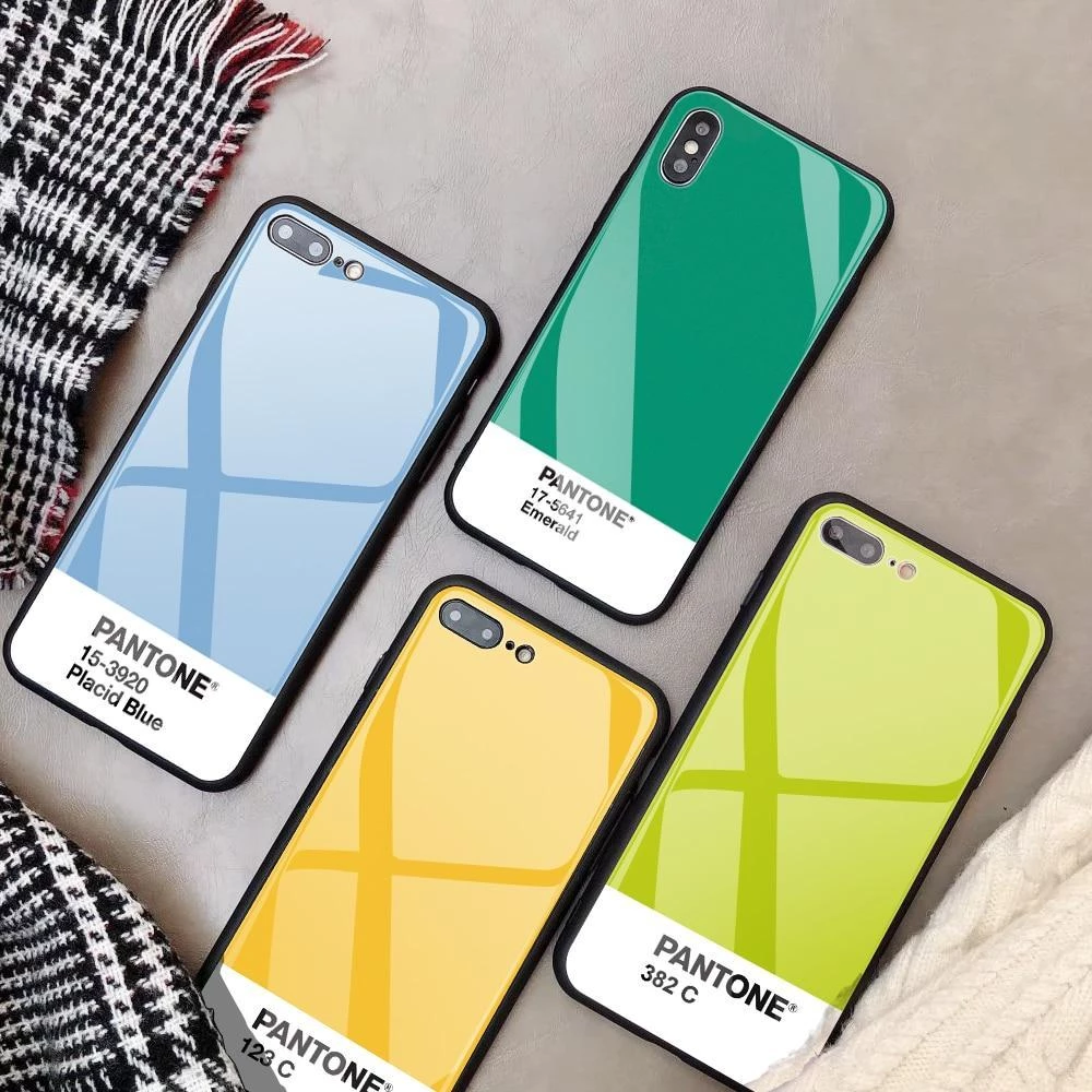 Pantone Glass Coating Phone Cases – Hyped Central   Coque iphone ...