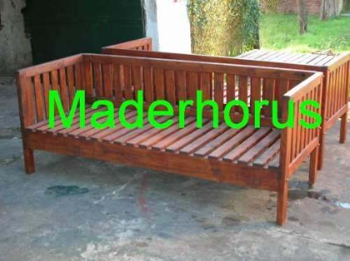 Sillones maderhorus tv 180 camastros jardin madera diy for Sillones de madera para jardin