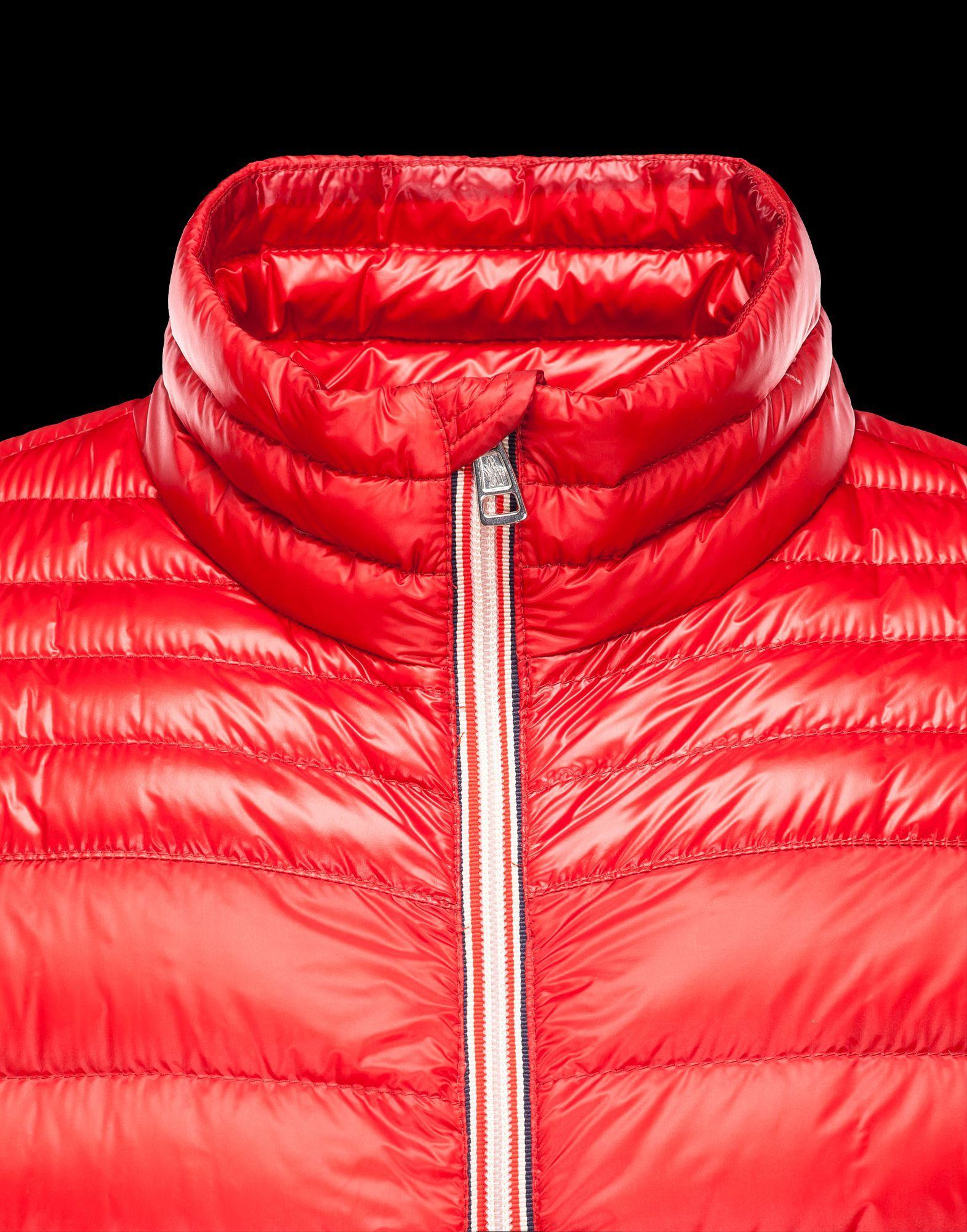 veste moncler rouge homme
