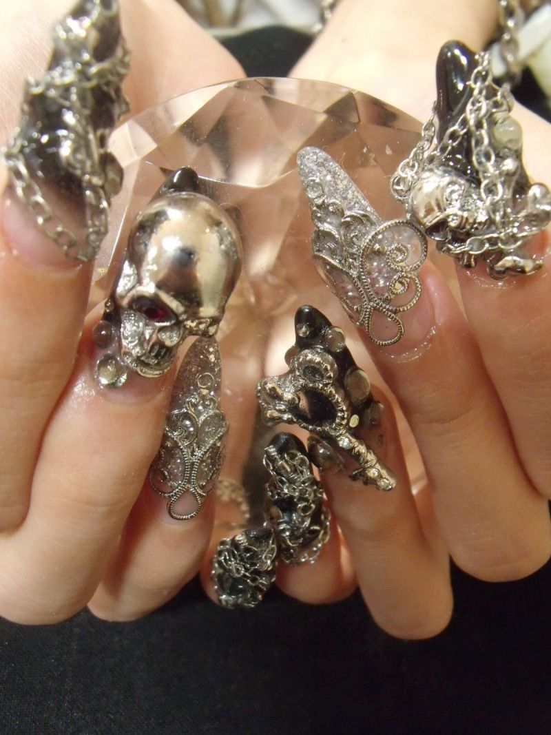 Jeweled Nail Art | Nail it | Pinterest | Uv gel, Jewel nails and Bling