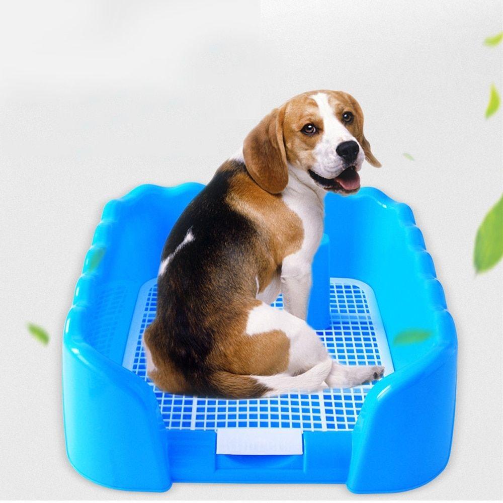 Indoor Dog Puppy Plastic Potty Training Fence Tray Pad Pet Pee