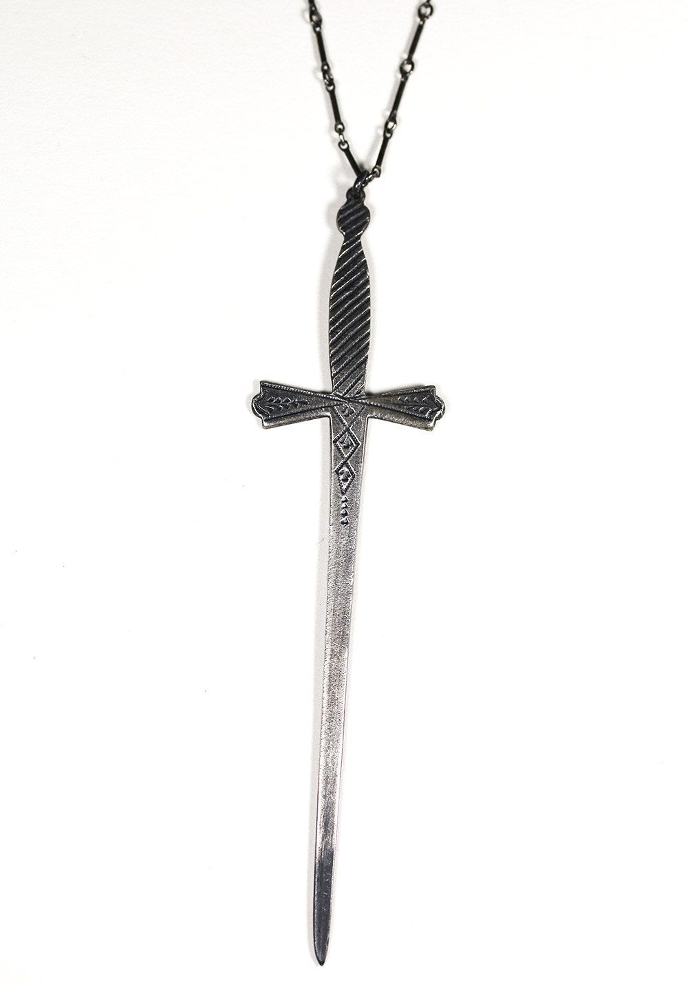 ace of swords necklace. sterling silver.. $150.00, via Etsy.