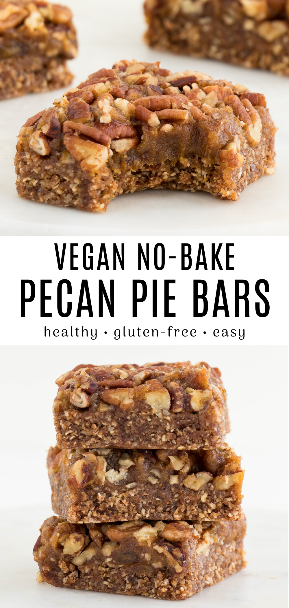No-Bake Pecan Pie Bars (Vegan, Gluten-Free) | Purely Kaylie