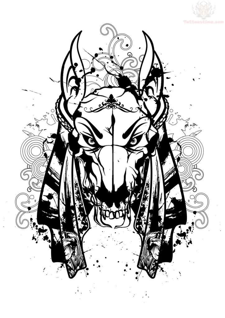 efaf14fb0 Anubis Head Tattoo Design For Men | Tribal tattoos | Anubis tattoo ...