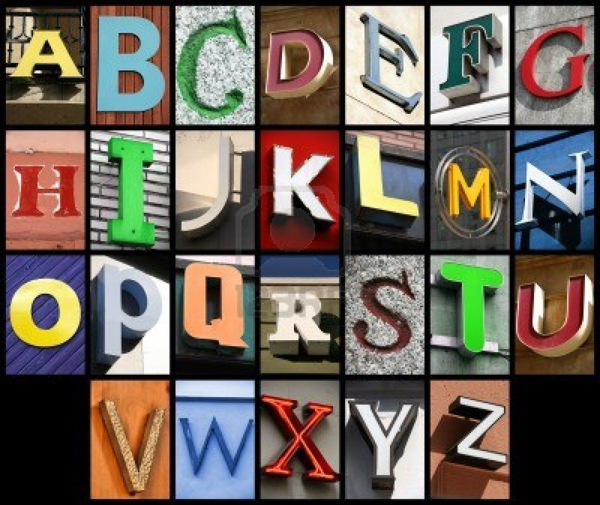 Stock Photo Fuente de letras, Alfabeto y Abecedario