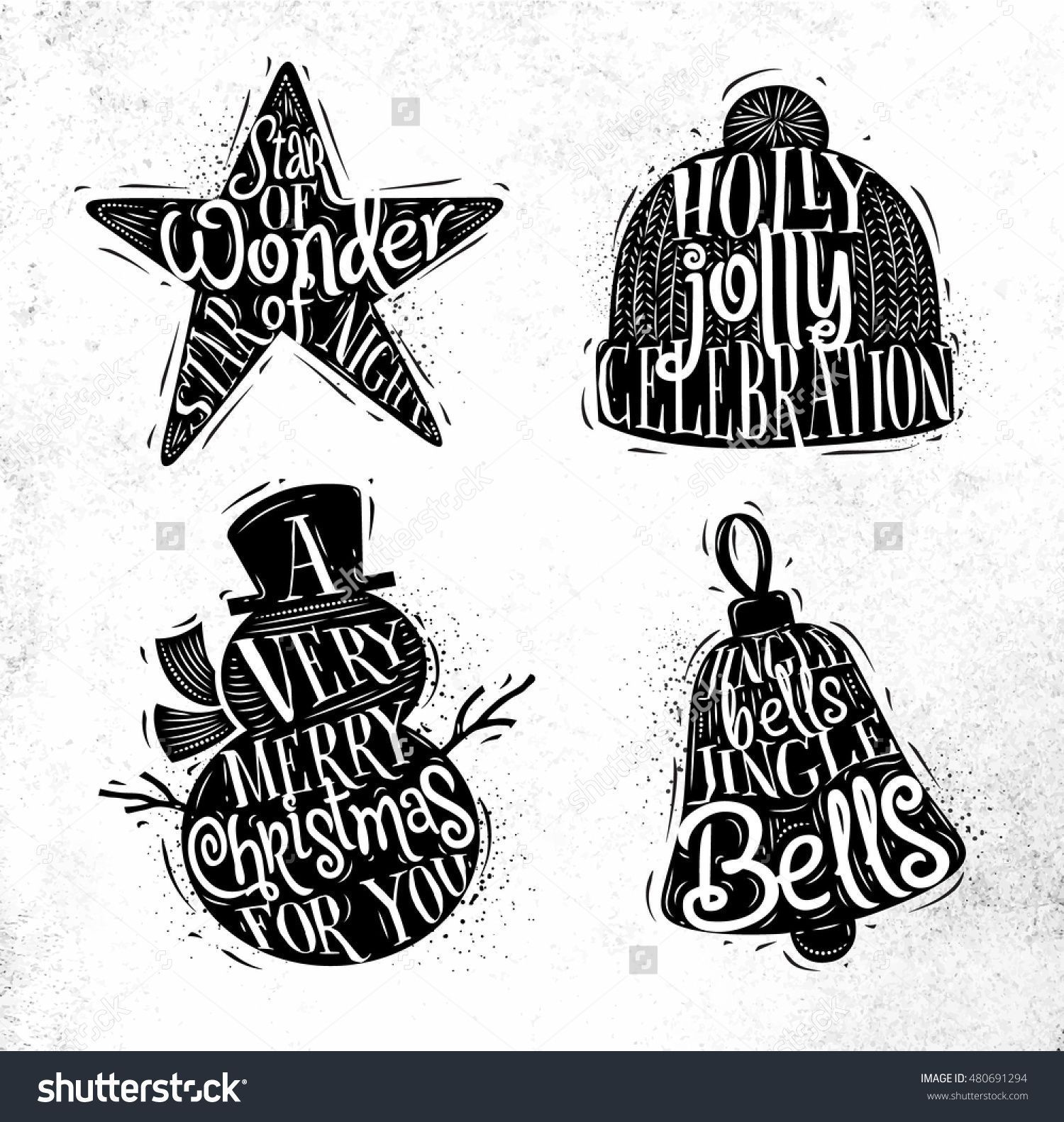 Christmas Vintage Silhouettes Star Snowman Bell Stock Vector (Royalty Free) 480691294 -    Christmas Vintage Silhouettes Star, Snowman, Bell, Winter Hat With Greeting Lettering Star Of Wonder Star Of Night, Holly Jolly Celebration, Drawing O…  #Bell #Christmas #Free #Royalty   Christmas Vintage Silhouettes Star Snowman Bell Stock Vector (Royalty Free) 480691294  Catherine Anderson Blog canderson8258 Celebration Christmas Vintage Silhouettes Star, Snowman, Bell, Winter Hat With Greeting Letterin