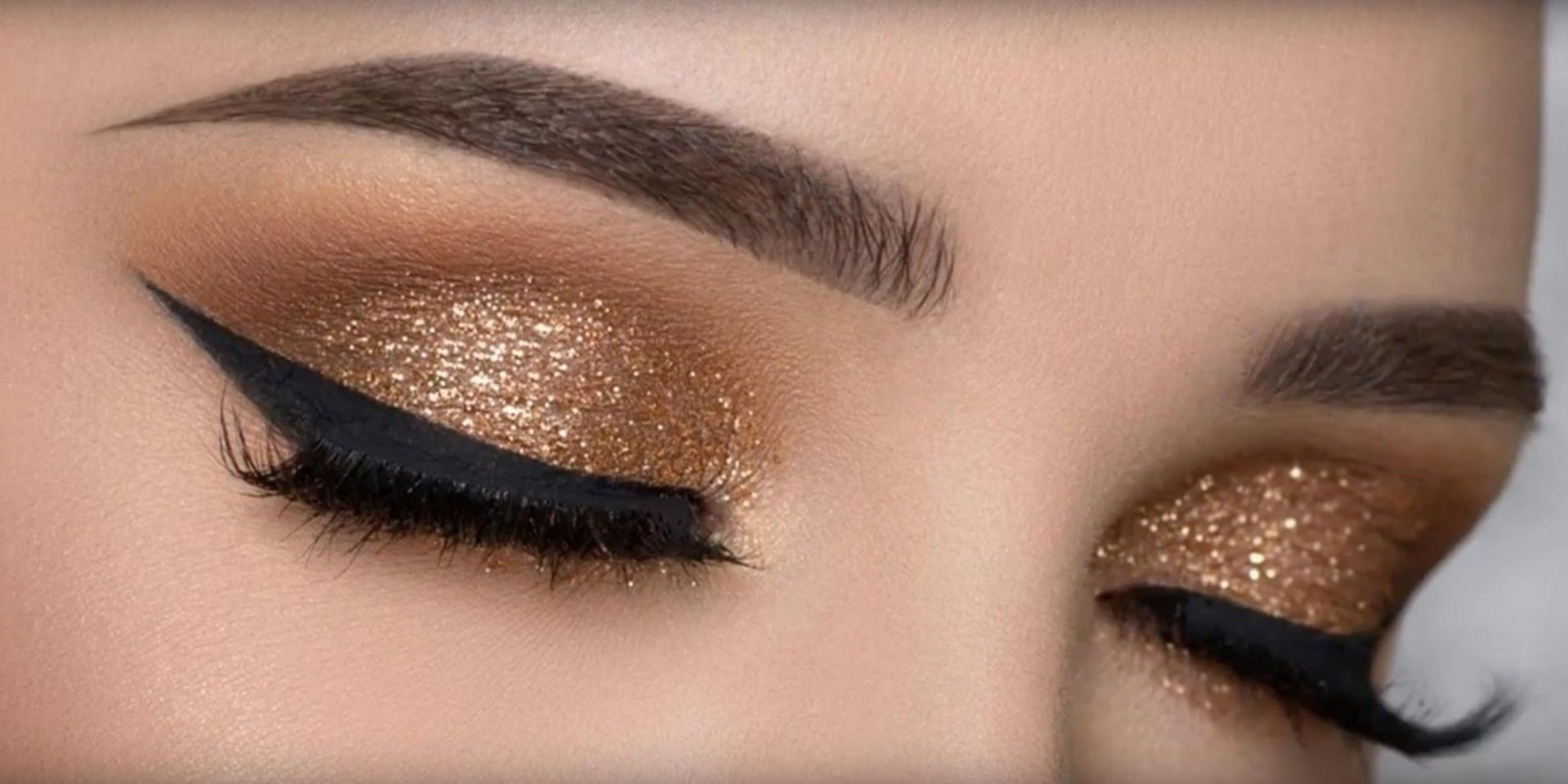 Golden sparkle makeup!!! Love this look by BeatfacRocs