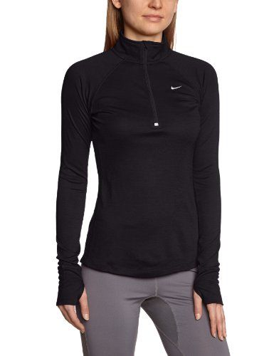 084b8c3896a1 Nike Womens Dri-FIT Wool Half Zip Pullover - X-Small - Black -- want one of  these to put my OAA logo on