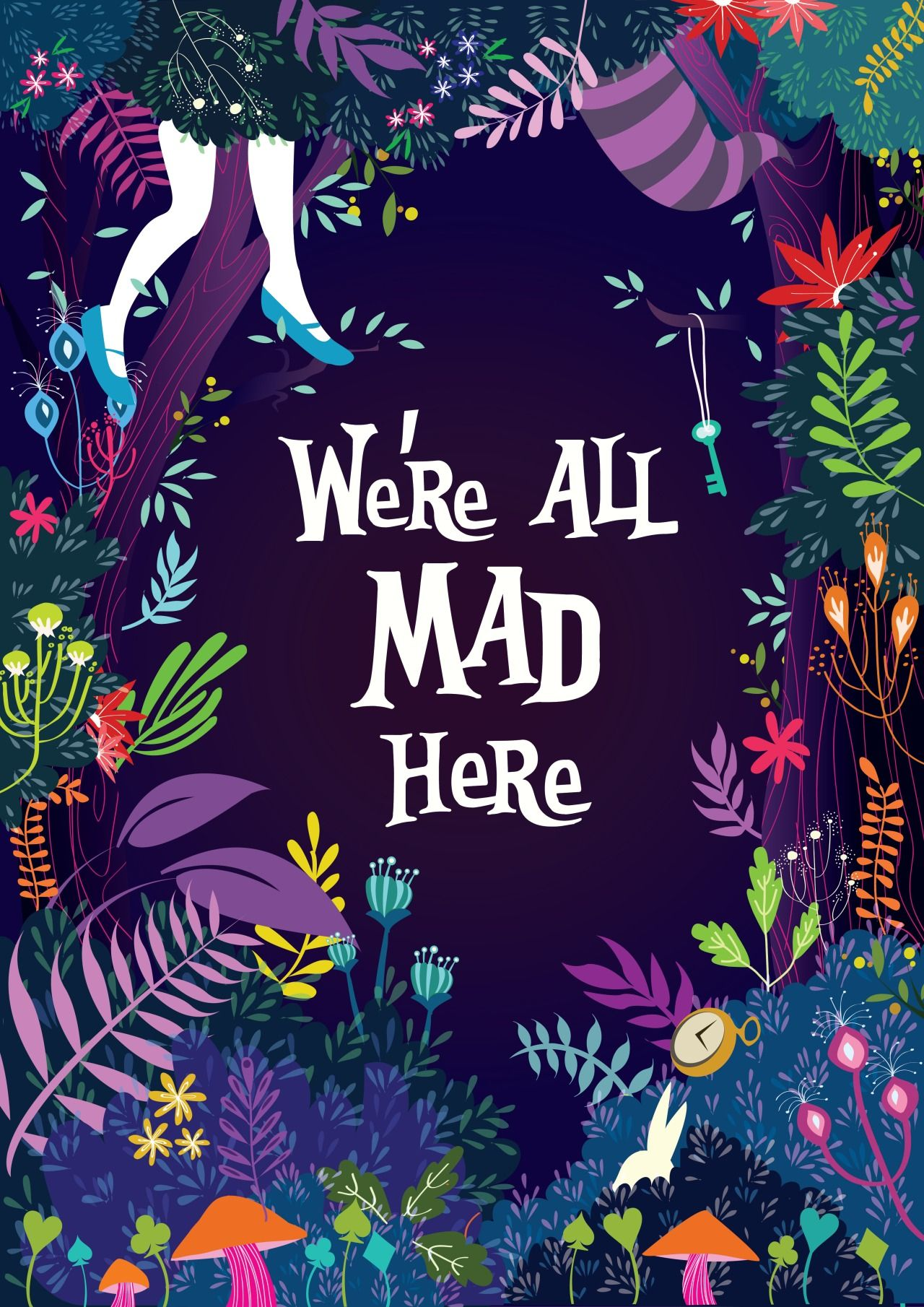 ALICE In WONDERLAND Were All Mad Here By Princess So Tumblr Soprincessdanielletumblr Instagram Cessypoop