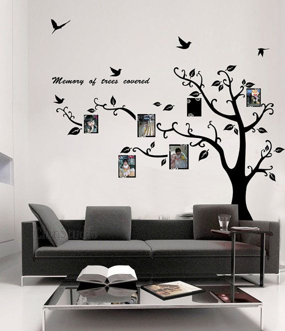 Large wall murals 198cm category tree wall sticker material vinyl wall sticker room