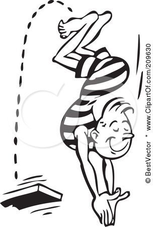 Jump Off A Diving Board Diving Board Black And White Man Clip Art