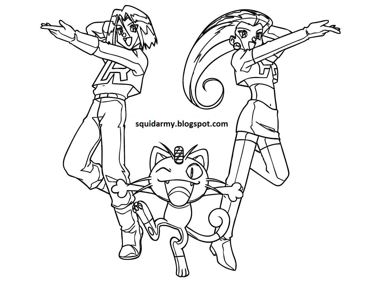 Pokemon Coloring Pages Team Rocket