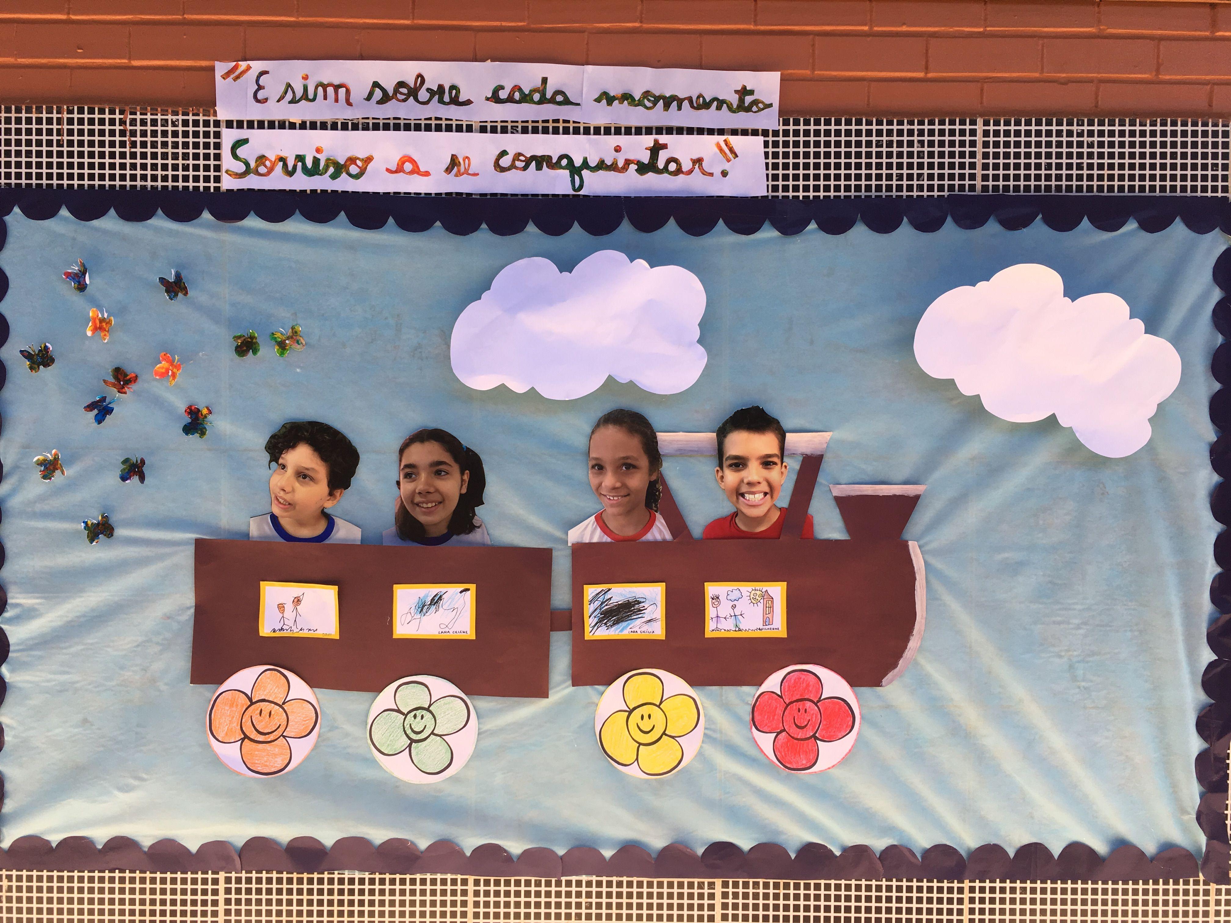Mural Dia Das Maes Classe Especial Trem Bala Ana Vilela Com
