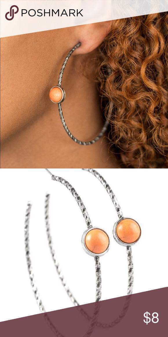 724691f9c Treasure Seeker Large Hoop Earrings NWOT~~A skinny silver hoop featuring a  twisted rope