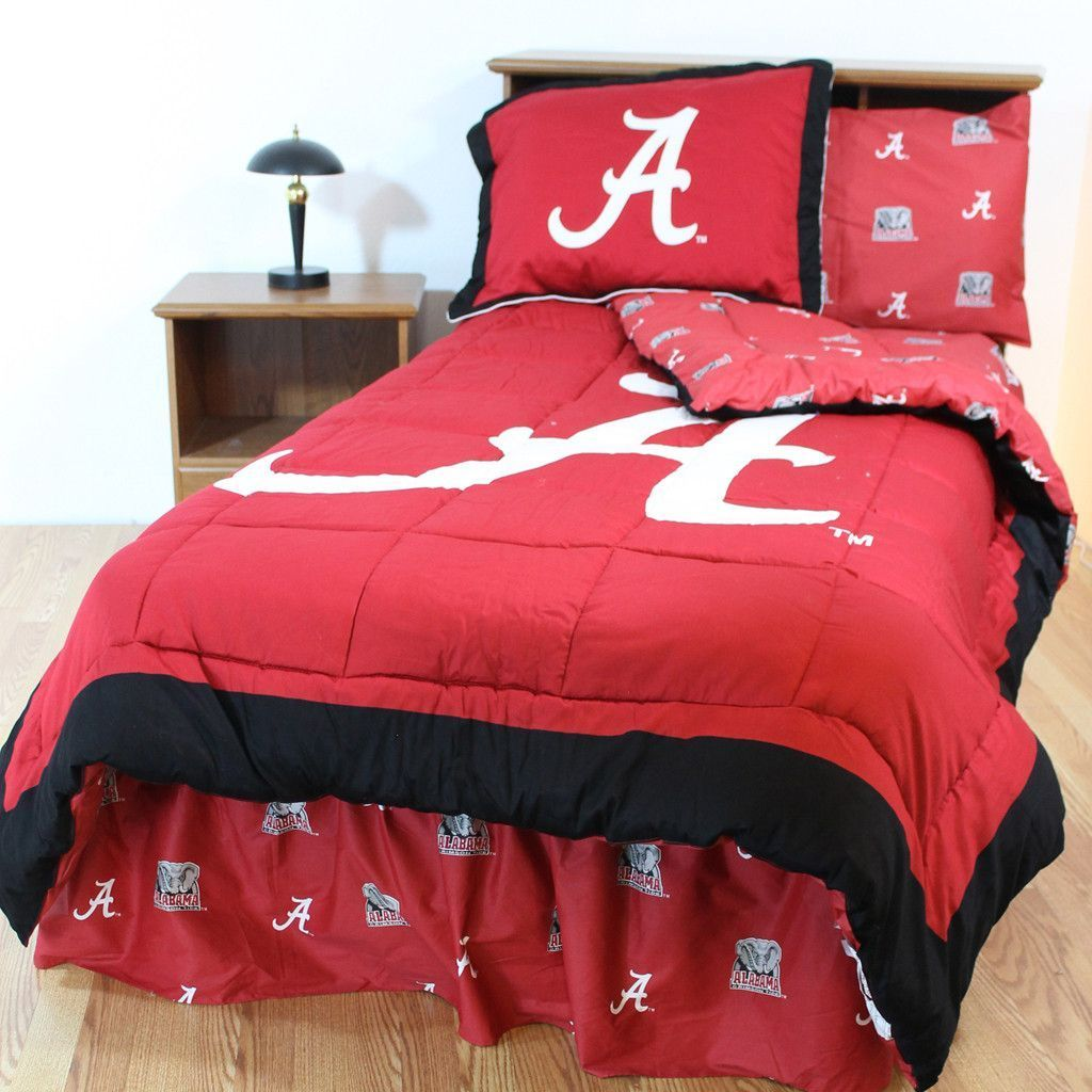 Alabama Crimson Tide Bed In A Bag W Colored Logo Sheets