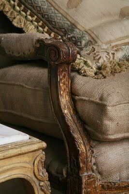 Burlap and Grain Sack Cloth have fought and clawed their way into the hearts of the best interiors.