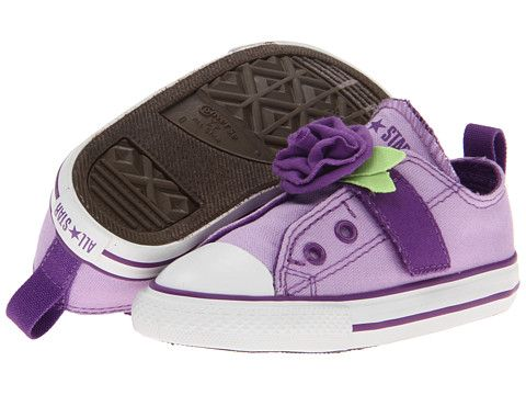 Converse Kids Chuck Taylor All Star Simple Slip On Ox Infant Toddler  Lavendula Royal Lilac 34f4359a1