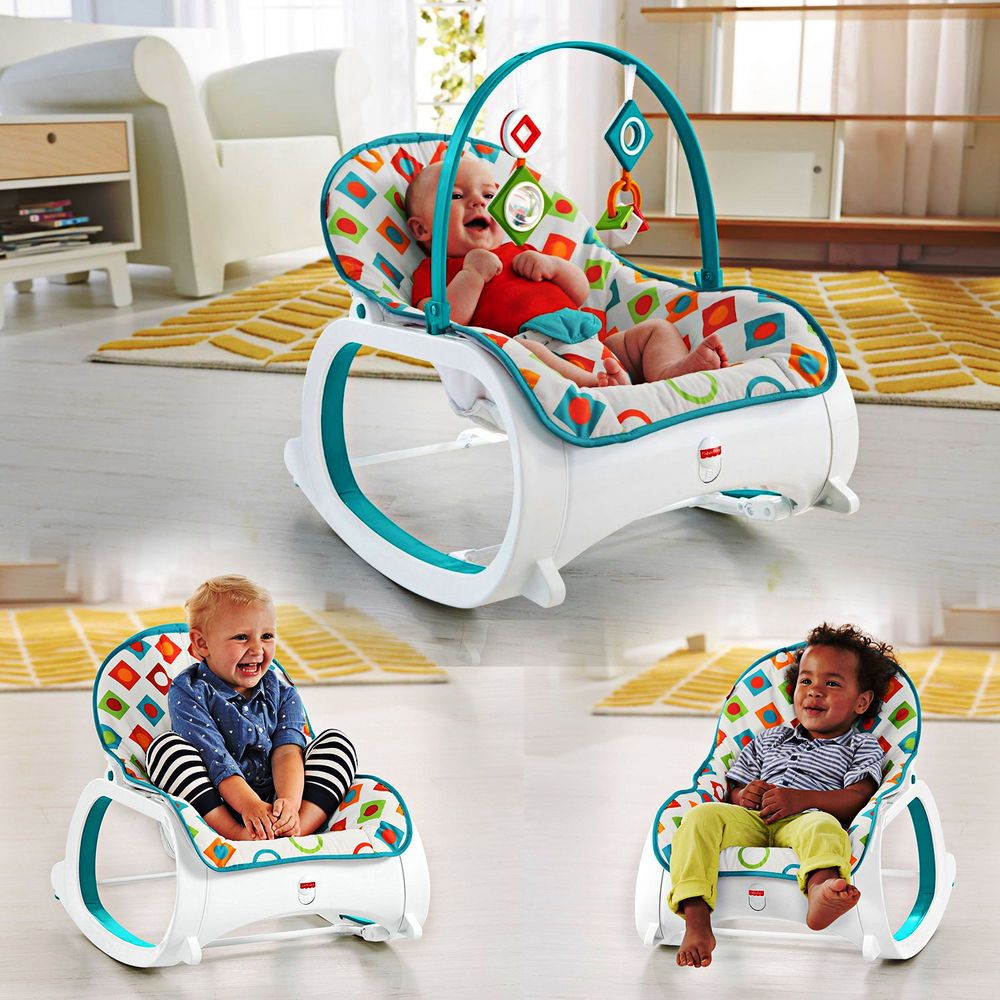 Baby Chair Rocker Kids Football New Infant To Toddler Bouncer Seat Sleeper Swing Toy Portable Ebay