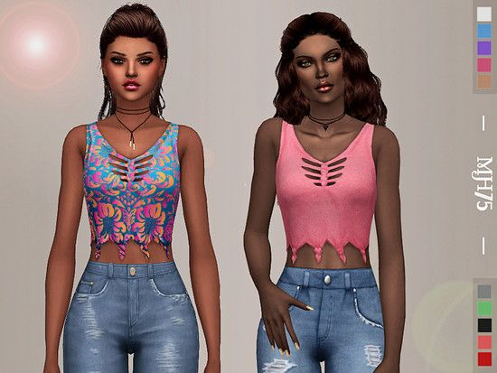 .:303 - Top Without Sleeves:. Found in TSR Category Sims