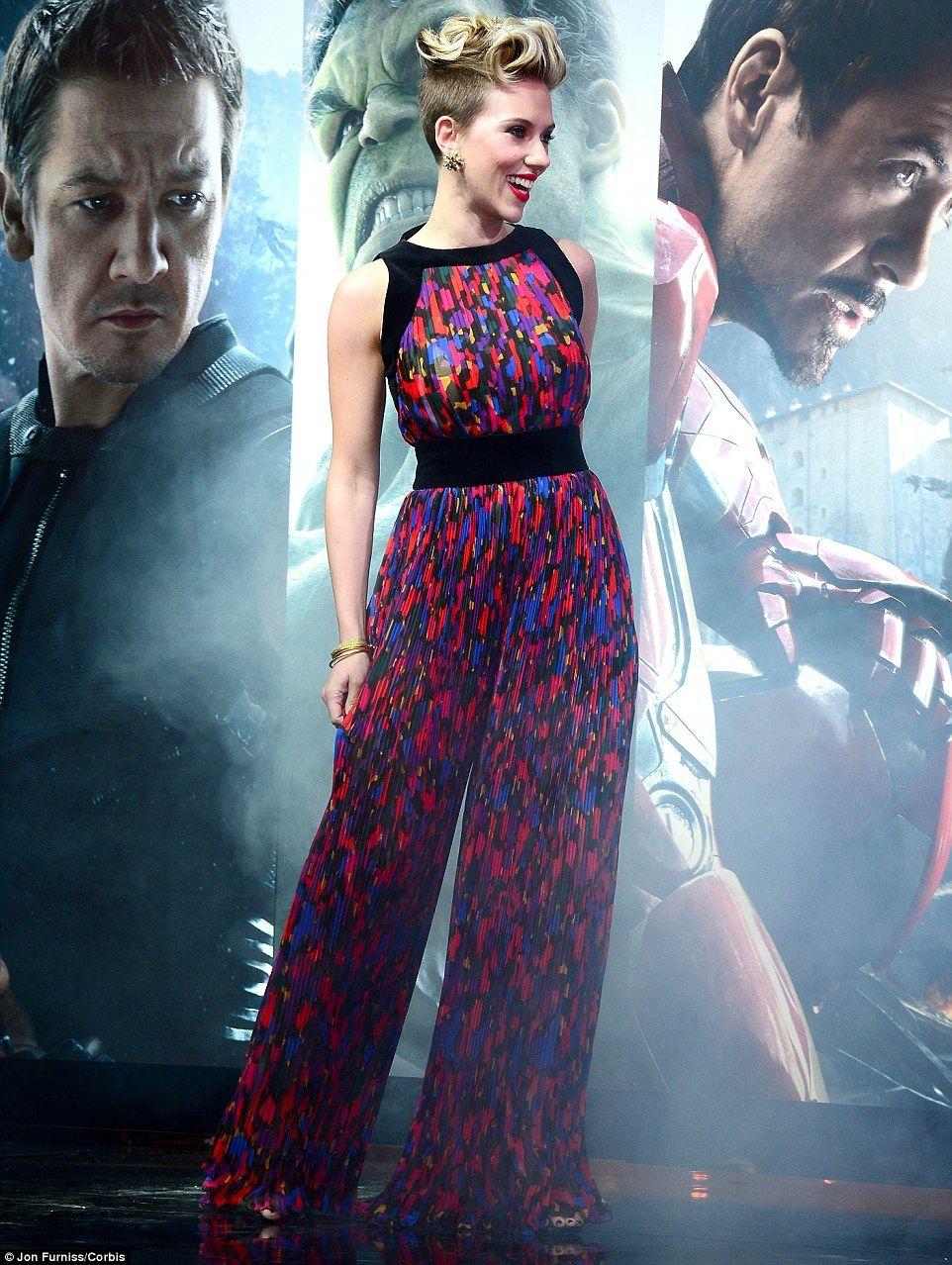 Scarlett Johansson stuns at UK premiere of Avengers: Age Of Ultron