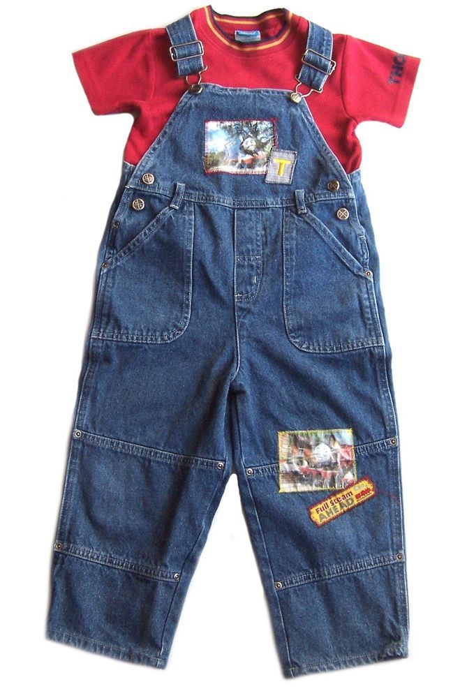 69fc95a5 Thomas The Tank Engine Train Denim Overalls Outfit Red Shirt Toddler Boys  3T #ThomasTheTrain #Everyday