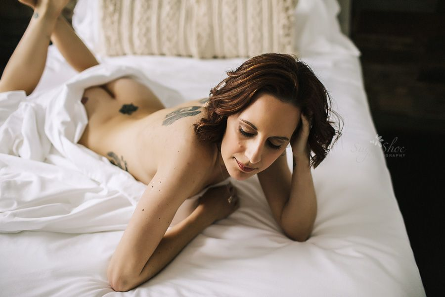 Women in bed naked