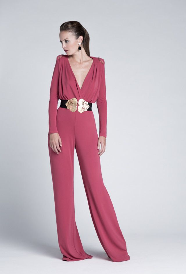 Invitada | Guest dress | Pinterest | Mono, Boda y Jumpsuit elegante