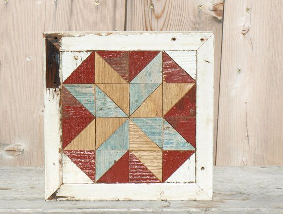 rustic wooden wall art , cottage chic barn quilt block, rustic wall decor,