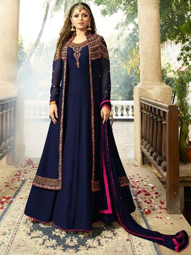 2ed97d69869  Indian  Pakistani  Designer  Wedding  Party wear  Bollywood  Anarkali  Suit   Freeship  Shoppingover  SalwarKameez