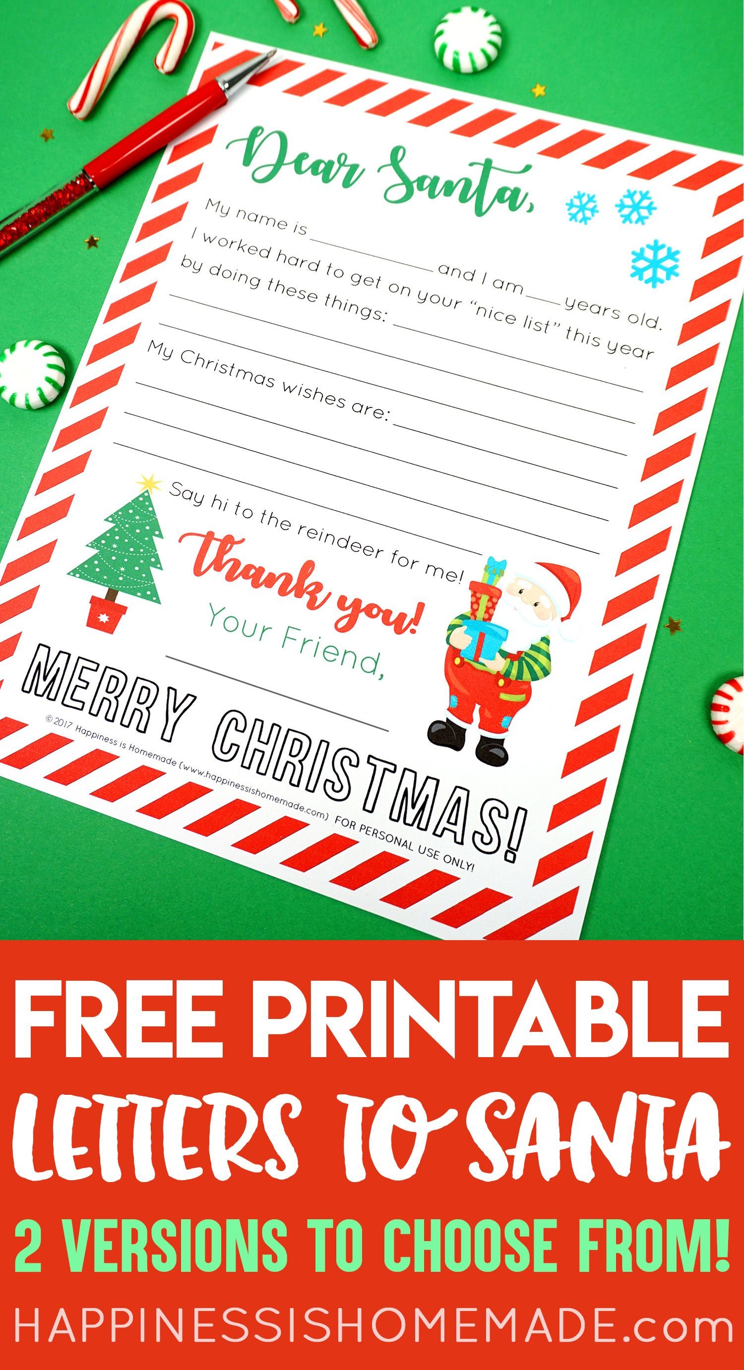 Letter To Santa Printables These Cute Printable Letter To Santa Templates Making Writing Santa Letter Template Santa Letter Printable Free Letters From Santa
