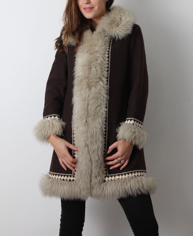 50e2406123 70s Coat / Finnish Coat / Winter Coat / Brown Wool Coat / Medium ...