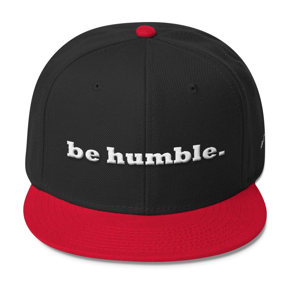 be humble. Wool Blend Snapback Women's accessories