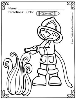 Coloring Pages For Fire Safety Fire Safety Theme Coloring Pages Fire Safety