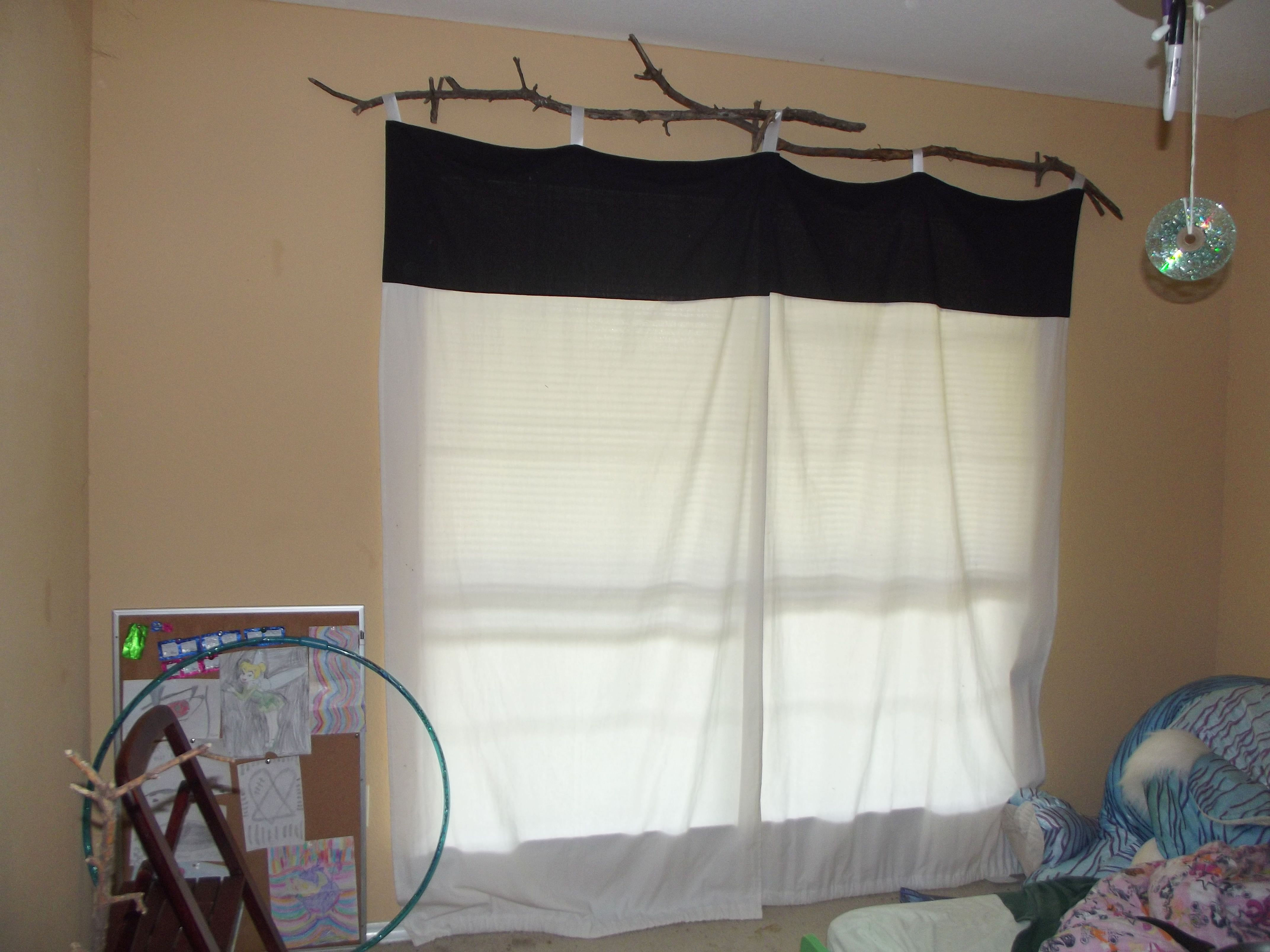 Tree Branch Curtain Rod For My Daughter S Tinker Room Branch