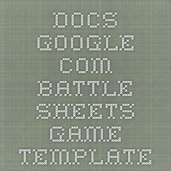 docsgoogle Battle Sheets Game Template Google Google  Google - Google Docs Budget Spreadsheet