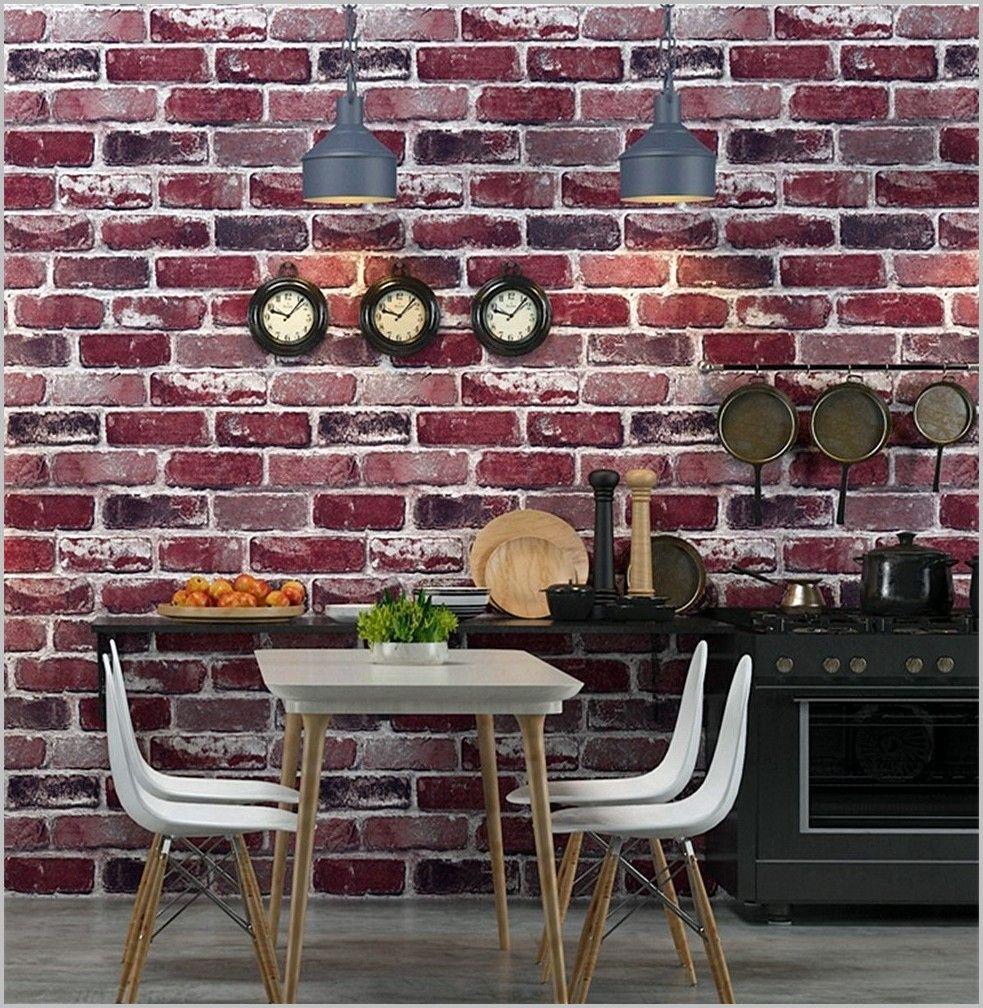 Papier Peint Brique Cuisine papier peint imitation brique pour cuisine | home decor