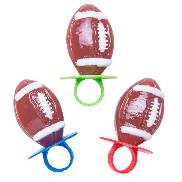 Check Out Football Lollipop Rings (3 Count) From Wholesale