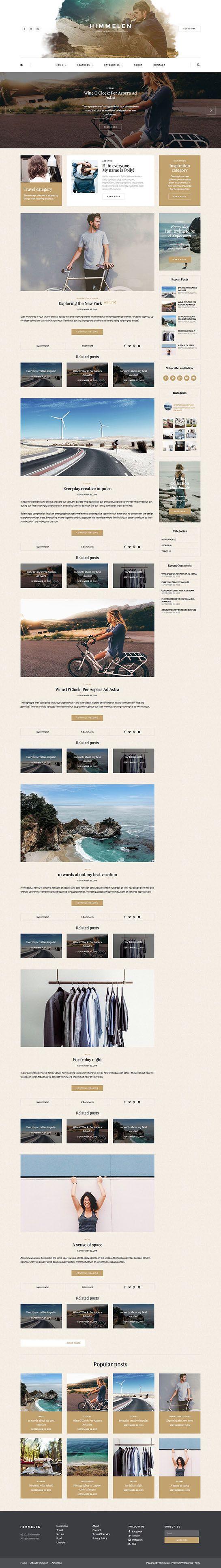 Himmelen Demo 2   Templates   Pinterest   Wordpress blog themes ...