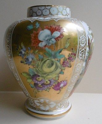 Antique Dresden Vase Or Urn Helena Wolfsohn 3 Porcelain Painting