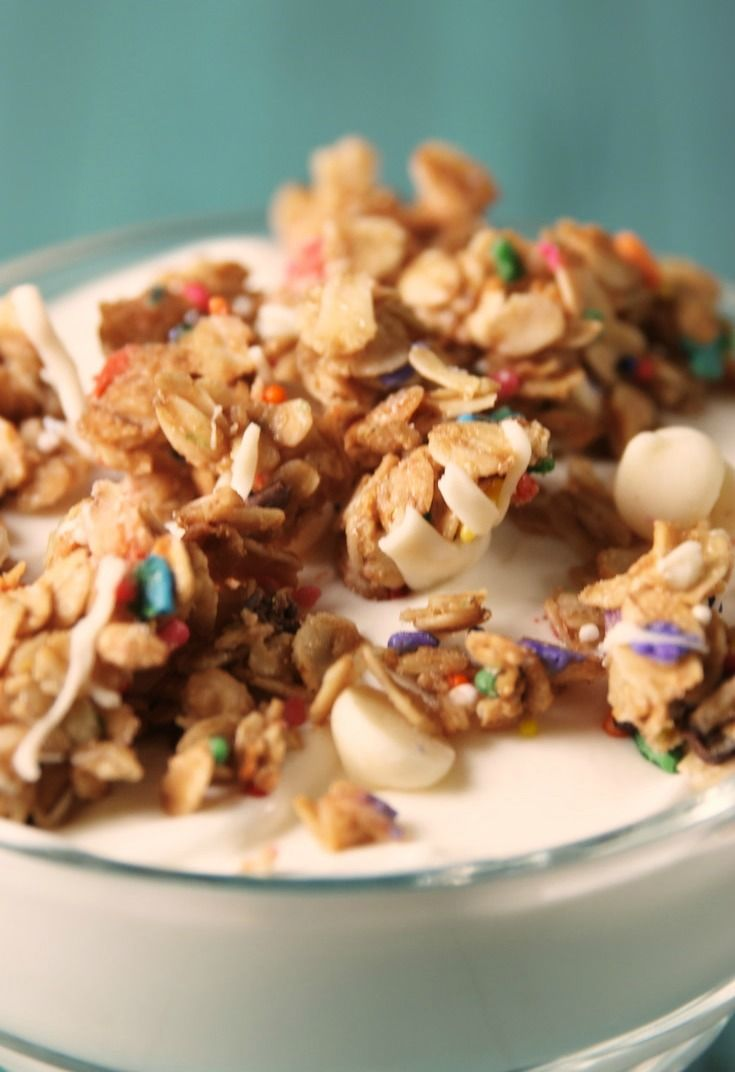 Birthday cake granola recipe with images granola