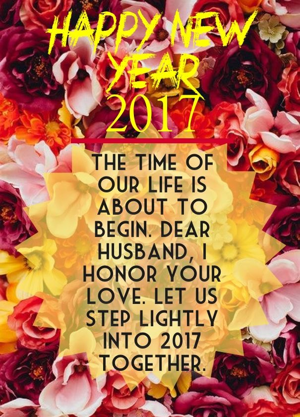 happy new years to my dear husband