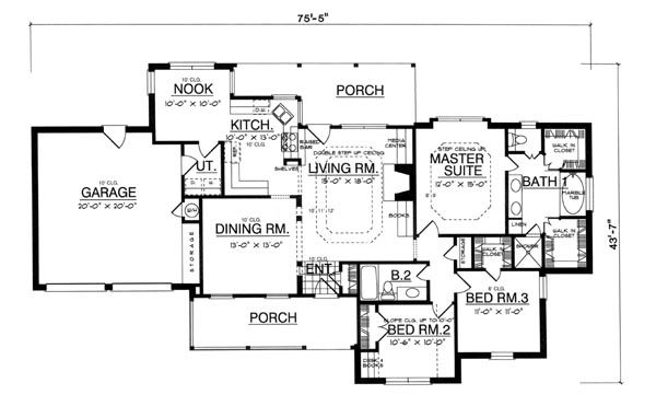 The Corner Stone 8181 3 Bedrooms and 25 Baths – Stone House Floor Plans