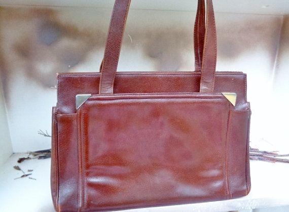 9a408064f1 Genuine leather handbag ,vintage handbag , French Leather handbag ...