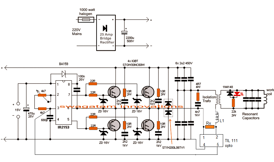 Induction Heater Circuit Using IGBT (Tested) (With images