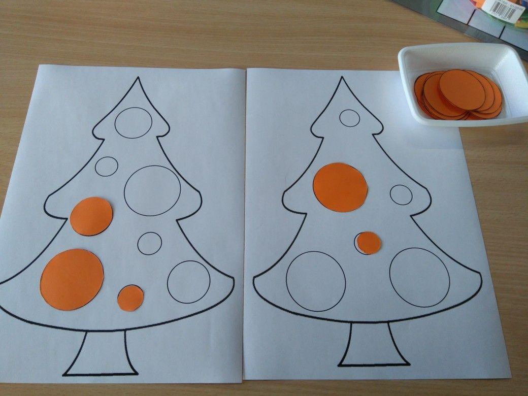 Oefening Op Meten Kerstballen Sorteren Volgens Grootte Leg De