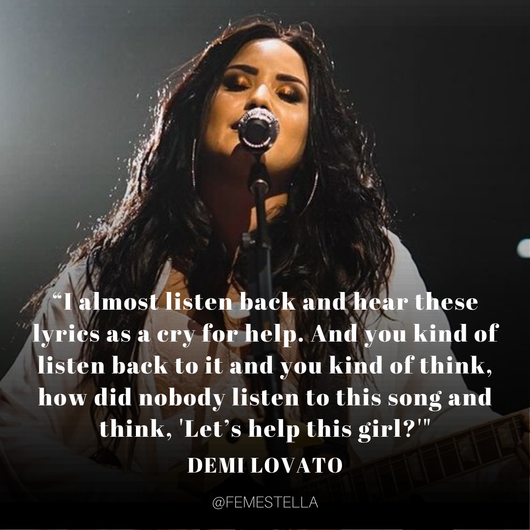 Demi Lovato S Song Anyone Is An Important Reminder To Check In On The People You Love Femestella In 2020 Demi Lovato Lyrics Demi Lovato Quotes Demi Lovato